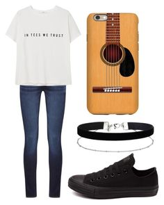 """""""Tees"""" by fangirlmendes on Polyvore featuring DL1961 Premium Denim, MANGO, Converse and Miss Selfridge"""