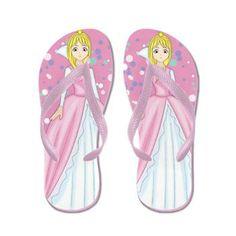Pink Princess Flip Flops