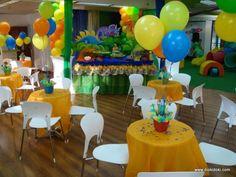 Decoración de fiesta infantil de dinosaurios - Imagui