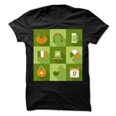 (Tshirt Deal Today) saint patricks day icons [Tshirt Sunfrog] Hoodies, Tee Shirts