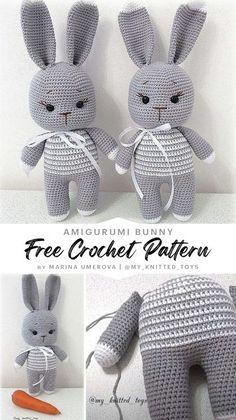 Kawaii Crochet, Crochet Teddy, Crochet Bunny, Crochet For Kids, Newborn Crochet Patterns, Crochet Amigurumi Free Patterns, Crochet Animal Patterns, Free Crochet, Manta Crochet