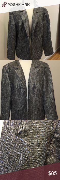 NWT Chico's Jacket. Chico's Jacket, Shine Tweed, LS Jack Silver.  Gorgeous jacket!!  Chico's Size 3.  NWT!! Chico's Jackets & Coats Blazers
