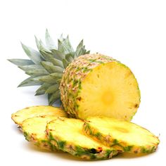 fresh slice pineapple on white background ❤ liked on Polyvore featuring filler, food, food & drink, fruit, detail and embellishment