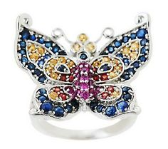 My birthday gift to myself. This ring is  based on the Conchita Sapphire Butterfly on display at the Smithsonian!