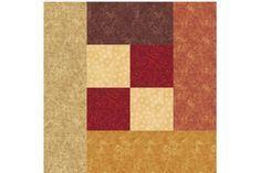 Mock Log Cabin Quilt Block Pattern - Janet Wickell