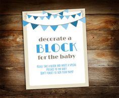 Decorate a Block  Sign a Block  Boy Baby by GalleriaDesignStudio