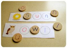 Letter matching... with a step up to introduce words at the same time...