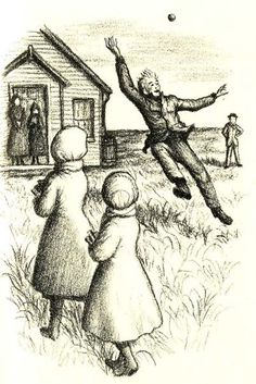 Garth Williams illustration from 1953 edition of The Long Winter.