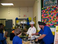 Bay St. Louis-Waveland School District (MS) is making a big deal out of Breakfast with the Chef promotion -- winning students get a made to order breakfast omelet by Chefs George and Craig
