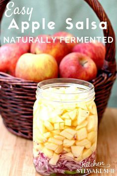 My apples got mushy. :/ MW New to fermented foods? You know they are good for you, but did you know how easy it is to get started? This apple salsa recipe is a great introduction to the world of ferments. Kombucha, Fermentation Recipes, Canning Recipes, Probiotic Foods, Fermented Foods, Salsa Guacamole, Salsa Food, Apple Salsa, Sauce Spaghetti