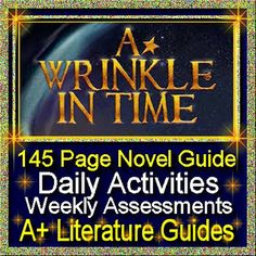 Free up your time with A Wrinkle in Time, a 145 page common-core aligned Complete Literature Guide for the novel by Madeleine L'Engle. This literature guide has everything that you will need to teach and assess the novel. The calendar guide explains the skills and activities for the day, and the weekly assessments are Common Core aligned and include all answer keys.