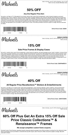 Pinned June 7th: 50% off a single item & more at #Michaels or online via promo code DAD50 #coupon via The #Coupons App