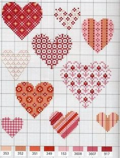 Beginning Cross Stitch Embroidery Tips - Embroidery Patterns Cross Stitch Needles, Cross Stitch Heart, Counted Cross Stitch Patterns, Cross Stitch Designs, Cross Stitch Embroidery, Hand Embroidery, Blackwork, Beading Patterns, Embroidery Patterns