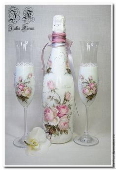 """Купить Свадебный комплект """"Нежные Розы"""". Декор - свадьба, свадебные аксессуары, свадебный подарок"""