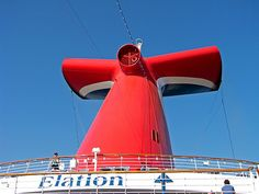 Carnival Elation cruise ship whale tail funnel