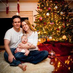 i like the christmas tree in the photo idea!