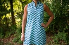 The Lindy Tunic in Green and Blue  Sleeveless cotton tunic. Chic and vibrant top with a button front. Easy to wear over white pants or as a cute run around summer dress and coverup.  http://www.lizabyrd.com/product/1447/Ladies/Cotton+Tunics+and+Tops/The+Lindy+Tunic+in+Green+and+Blue