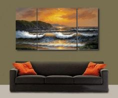 Paciffic Ocean Big Wave Seascape Large Modern Art 100% Hand Painted Oil Painting on Canvas Wall Art Deco Home Decoration (Unstretch No Frame) 3 Pics by galleryworldwide, http://www.amazon.com/dp/B0093YA43M/ref=cm_sw_r_pi_dp_LBdUrb01TCS5F