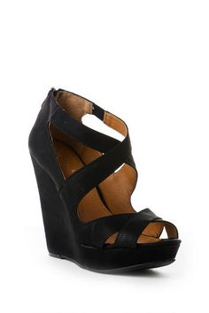 64e3a82a545ea Chinese Laundry Motion Wedge in Black francesca s