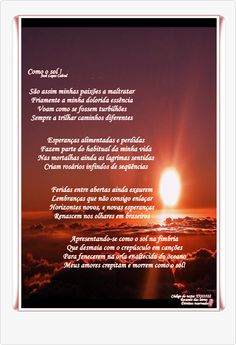 Como o sol! - Blog - Casa dos Poetas e das Poesias
