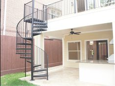 Glass and Metal Exterior Spiral Staircase | Spiral Staircase: Pros ...