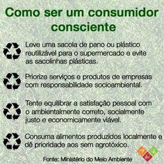 Outubro é o mês do consumo consciente!  #socialgood