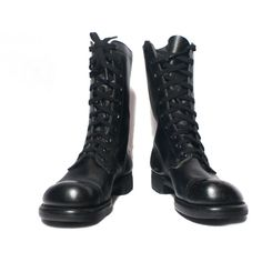 Mens Combat Boots Black Leather Biker Boots Military