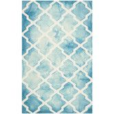 Found it at Wayfair - Dip Dye Turquoise/Ivory Area Rug