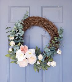 Handmade wreaths to give your front porch style. Welcome guests with a beautiful, custom design for your front door. -Various floral and greenery options -Perfect for holidays and special occasions -Spring, summer, fall and winter Diy Spring Wreath, Summer Door Wreaths, Christmas Mesh Wreaths, Deco Mesh Wreaths, Wreaths For Front Door, Diy Wreath, Holiday Wreaths, Tulle Wreath, Winter Wreaths