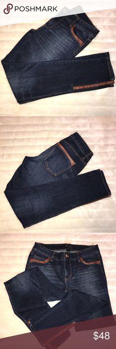 White House Black Market Skinny Jeans Great shape. Beautiful fit. Barely worn. Zipper fully functional on both sides of jeans White House Black Market Jeans Skinny