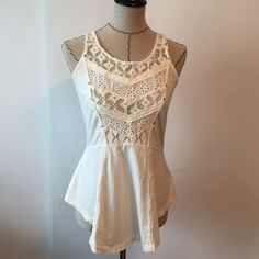 Free people crotchet tank top Crotchet tank top. New without tags, never worn. Size small. Make an offer No trades  Free People Tops Tank Tops