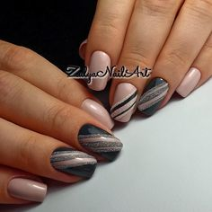 Nails Pink Gray Manicures 51 Ideas For 2019 Fancy Nails, Love Nails, How To Do Nails, Pretty Nails, My Nails, Spring Nail Art, Spring Nails, Gel Nail Designs, Fabulous Nails