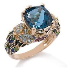 Victoria Wieck Gold & Blue Topaz stone Peacock Ring ~ So pretty! I Love Jewelry, Jewelry Box, Jewelry Rings, Jewelery, Jewelry Accessories, Fine Jewelry, Jewelry Design, Topaz Jewelry, Gold Jewelry