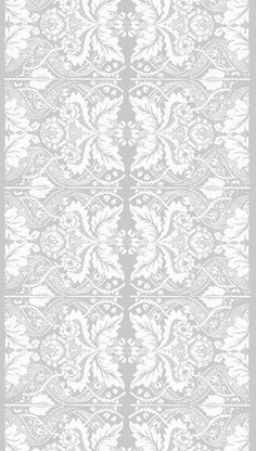 Marimekko Fandango Grey Upholstery Fabric The intricate design of the Fandango upholstery fabric by Marimekko exudes style and class. The subdued grey and white color scheme will add subtle interest and style to any room. Fabric Patterns, Print Patterns, White Damask, Marimekko, Linen Fabric, Cotton Fabric, Scandinavian Design, Fabric Design, Pattern Design