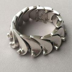 """Gallery 925 - Antonio Pineda """"Wave"""" Bracelet, Handmade Sterling Silver"""