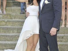 Asymetryczna suknia ślubna i ślub Pauliny Sykut