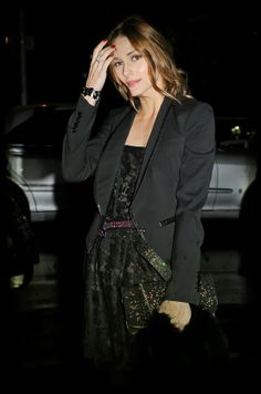 Olivia Palermo in an all Black Outfit