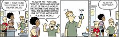 The downside of ordering online--August 31, 2012   Retail Comic