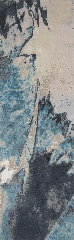 'Trilogy No.02_Cobalt' | 80% Tibetan wool 20% Chinese silk | 150 knot/inch