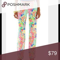 NWT Lilly Pulitzer Georgia May palazzo csa banana This listing is for multiples of this item, please select size below, each item is still in its original plastic wrapping hence the stock photo Lilly Pulitzer Pants