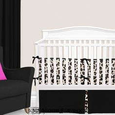 Nothin' wrong with a little sass in a nursery, are we right? This cream, brown, and black cheetah print nursery is fun and trendy. Pair your cheetah baby bedding with a matching cheetah baby blanket + accessories for the full look. Baby Boy Bedding Sets, Custom Baby Bedding, Baby Nursery Bedding, Nursery Decor, Crib Bumper Set, Girl Cribs, Thing 1, Baby Prints, Cheetah Print