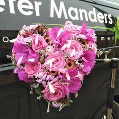 #trouwen #bruidsboeket #bruid  #rozen #orchideeën #gerbera #bloemen  Peter Manders #bloemist in #Lemmer