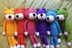 Taste The Rainbow, Over The Rainbow, Rainbow Colors, Vibrant Colors, Colorful, Happy Colors, Crochet Dolls, Crochet Teddy, Crochet Animals