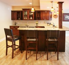 Recreational Wet Bar Design Concept For A Home. Granite Countertops With  Lots Of Space For