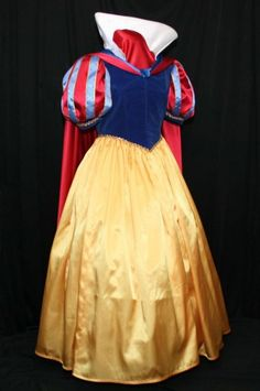 EXQUISITE Adult Snow WHITE Gown/Cape/Bow Costume Custom Size