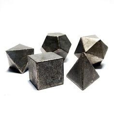 Limited Edition Platonic Solid Sets by @bsps001 via shop.occulter.org