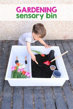 Gardening Sensory Bin | Mama.Papa.Bubba.