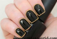 Nail Art: studded outline by Demelza's World
