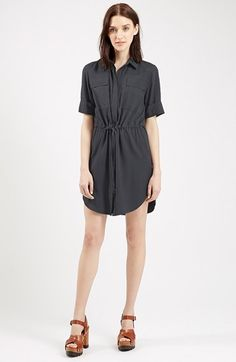 Topshop+Utility+Drawstring+Dress+(Nordstrom+Exclusive)+available+at+#Nordstrom
