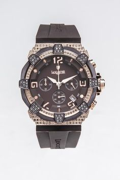 Men's Brown/RoseGold Diamonds Watch.